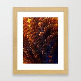 Lava Flow Abstract Framed Art Print