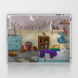 Young lady playing in room to be a warrior Laptop & iPad Skin