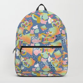 Rainbow Prism Candy Abstract Pattern Blue  Backpack
