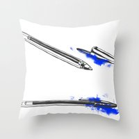 pen Throw Pillows featuring Pen by david magila
