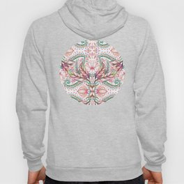 Lily, Leaf & Triangle Pattern – multi-color version Hoody