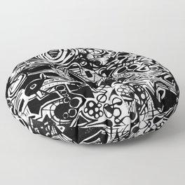 Black/White #1 Floor Pillow
