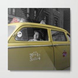 Vintage Taxi 5 Metal Print