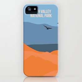 Winged Living Creatures Soaring High In Death Valley National Park iPhone Case