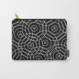 Random Rings Silver Carry-All Pouch