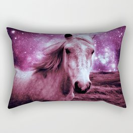 Mauve Horse Celestial Dreams Rectangular Pillow