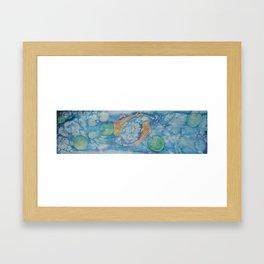 Koi Pond Batik Framed Art Print