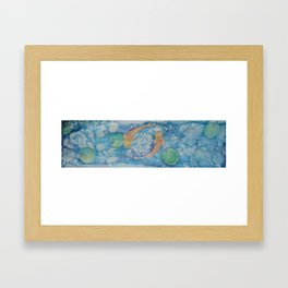 Koi Pond Batik Framed Art Print