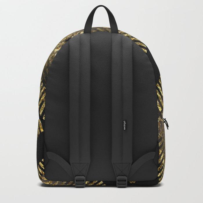 Black Gold | Tribal Geometric Backpack