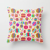 carnival Throw Pillows featuring Carnival by Valendji