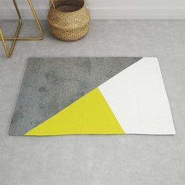 Concrete vs Corn Yellow Rug
