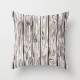 Porch Wood Throw Pillow