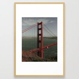 Golden Gate West From Above Framed Art Print