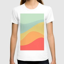 Abstract Color Waves - Bright Rainbow T-shirt
