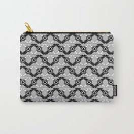 Black and White Knights on Grey Carry-All Pouch
