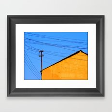 The sun struggles up another beautiful day Framed Art Print