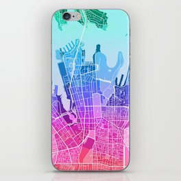 Sydney Map (Colour Gradient) iPhone Skin