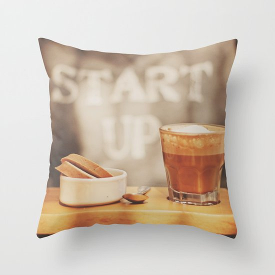 Start up Throw Pillow