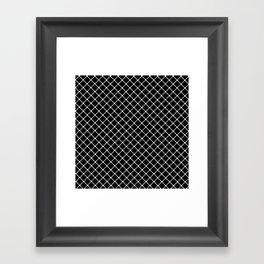 Dotted Grid 45 Black Framed Art Print