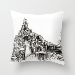 Splash Mountain Throw Pillow