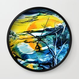 WinterFullMoon Wall Clock