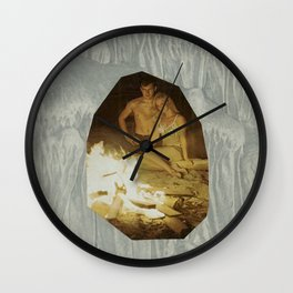 Love is a Cave Wall Clock