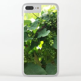 Green grapes Nature Design Clear iPhone Case