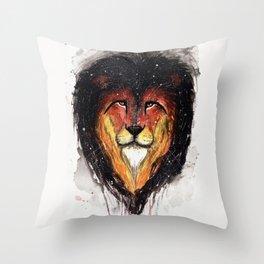 Fire Lion. Throw Pillow