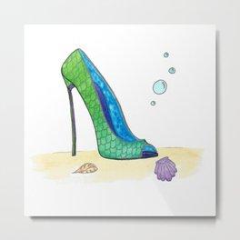 Ariel Shoe Metal Print