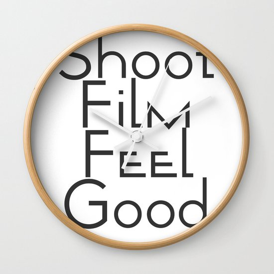 Shoot Film, Feel Good (Big) Wall Clock