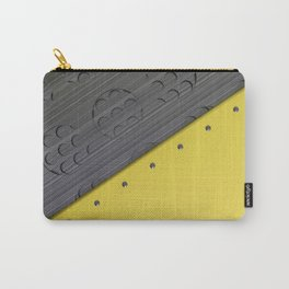 Colored plate with rivets and circular metal grille Carry-All Pouch