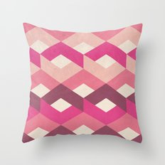 Pink Fancy Pattern Throw Pillow
