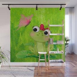 Cute Girl Frog  Wall Mural