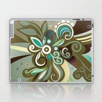 Floral curves of Joy, olive Laptop & iPad Skin