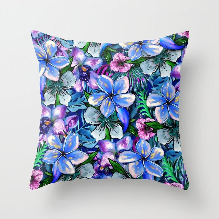 My Tropical Garden 5 - variation Throw Pillow