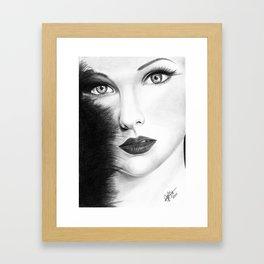 The Girl with stars in her eye's Framed Art Print