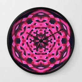Magenta Sixth Sense Mandala Wall Clock