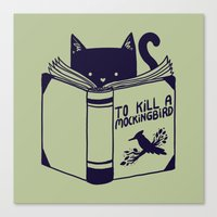 to kill a mockingbird Canvas Prints featuring How To Kill a Mockingbird by Tobe Fonseca