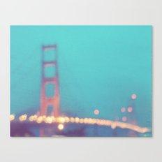 la nuit. San Francisco Golden Gate Bridge photograph Canvas Print