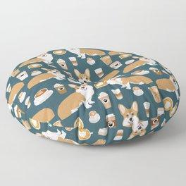 Corgi coffee welsh corgis dog breed pet lovers blue corgi crew pet lovers Floor Pillow