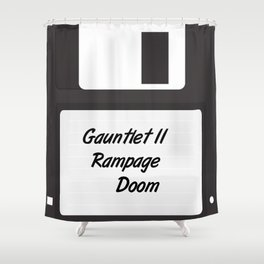 90s Video Games Diskette Shower Curtain