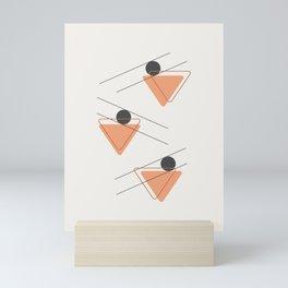 Trangula Art #geometrical #triangles #illustration Mini Art Print