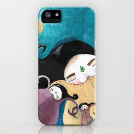 Sleeping Bhoomies iPhone Case