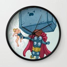 The Mighty Mjolnir Wall Clock