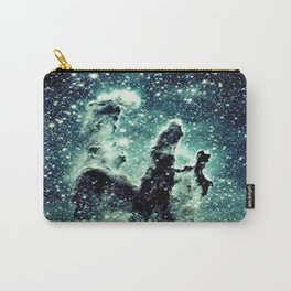 Nebula Galaxy : Teal Pillars of Creation Carry-All Pouch
