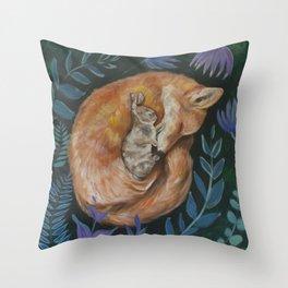 What Do the Fox & Hare Dream? Throw Pillow