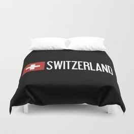 Switzerland: Swiss Flag & Switzerland Duvet Cover