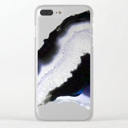 Blue syrup Agate Clear iPhone Case