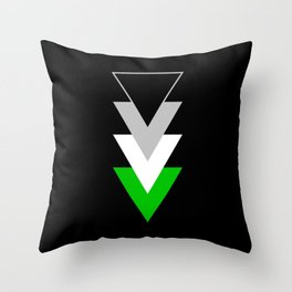 Andromanticism in Shapes Throw Pillow