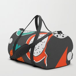 Strawberries and citrus fruits at night Duffle Bag